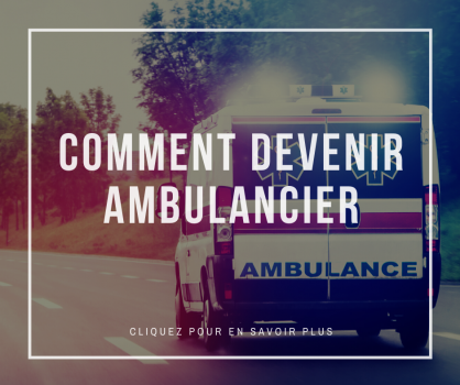 Comment devenir ambulancier